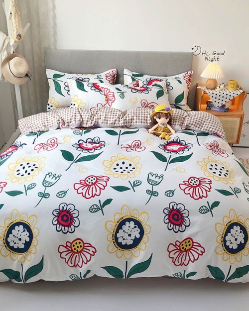 duvet cover with bed sheet pillowcases