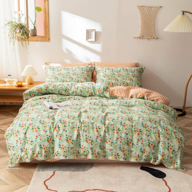 cotton duvet cover with pillow cases